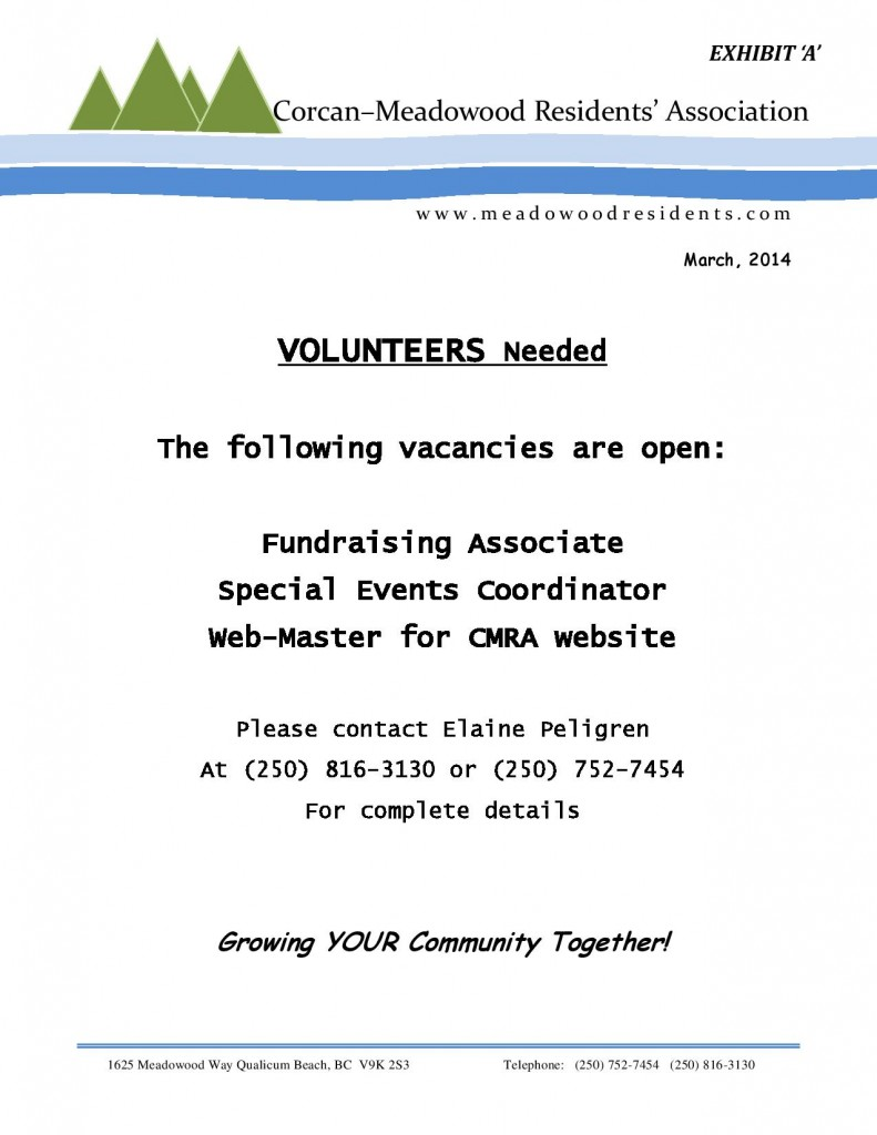 CMRA Volunteer Recruitment Notice Mar. 2014-page-001