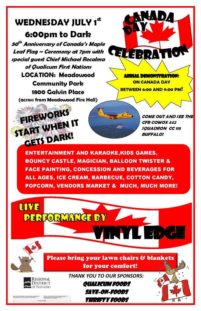 2015 Canada Day Final Poster