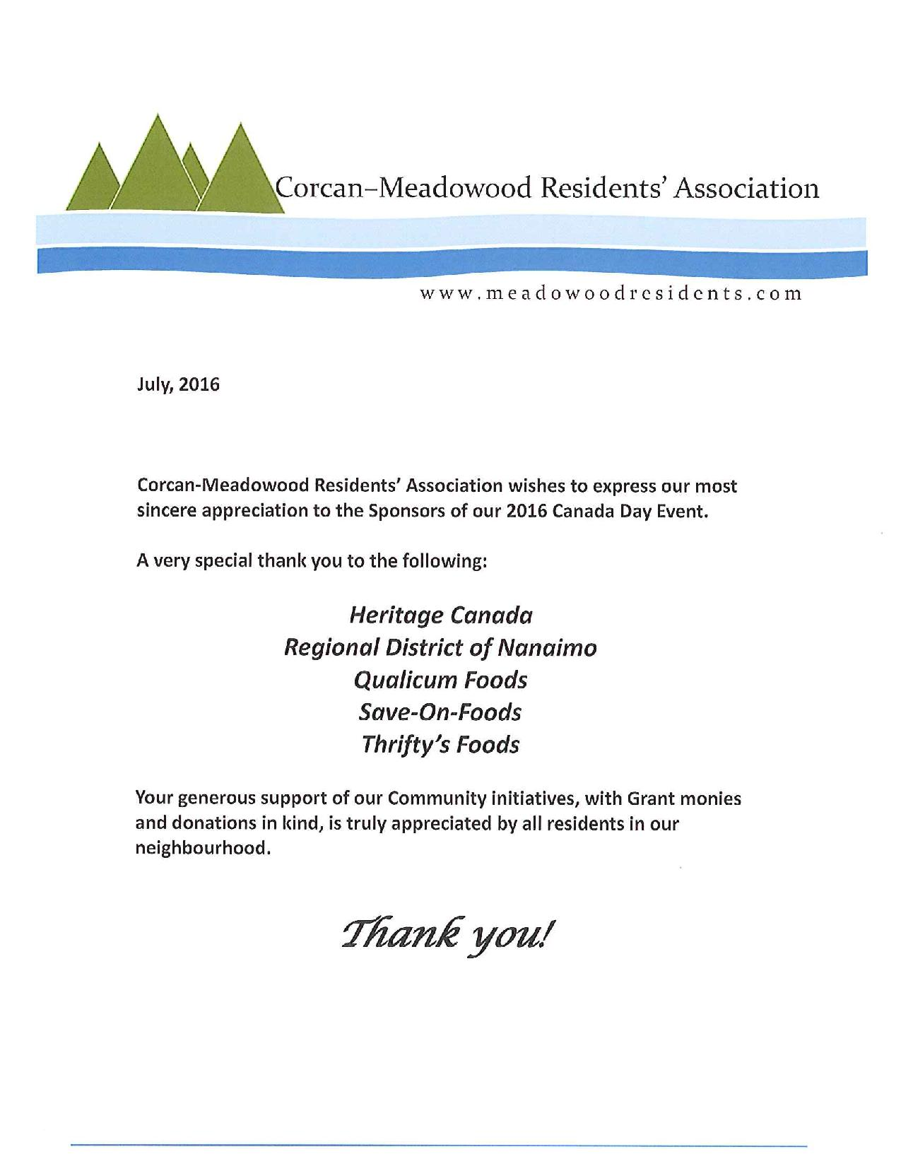 Canada Day | Corcan & Meadowood Residents Association