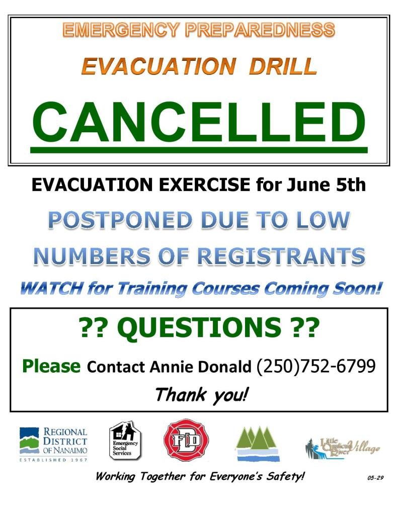 NEPP EVACUATION DRILL - CANCELLATION Poster for June 5, 2018 Event REV.05-29-page-001